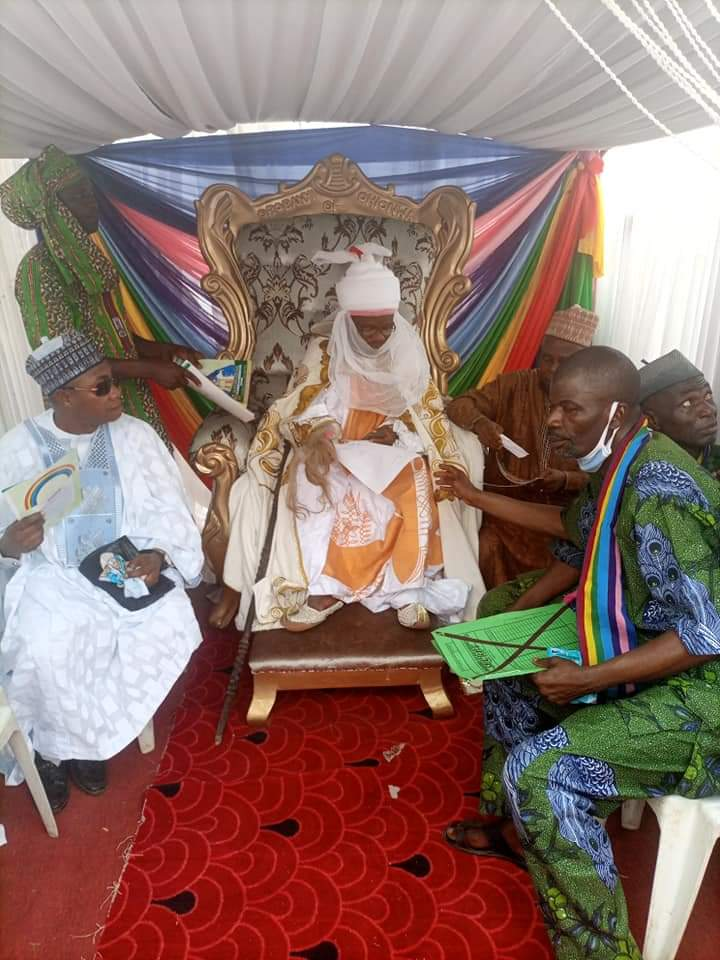 GOVERNOR BELLO ATTENDS THE CORONATION OF HRH, JIMOH ENESI AS THE OBOBANYI OF OHIONWA CLAN, IHIMA